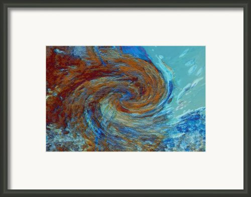 Ocean Colors Framed Print By Linda Sannuti