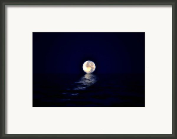 Ocean Moon Framed Print By Bill Cannon