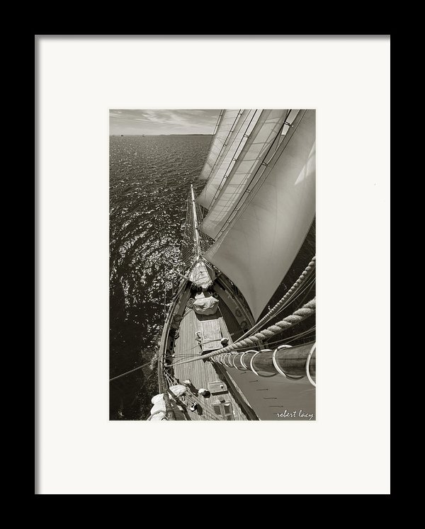 Ocean View Framed Print By Robert Lacy