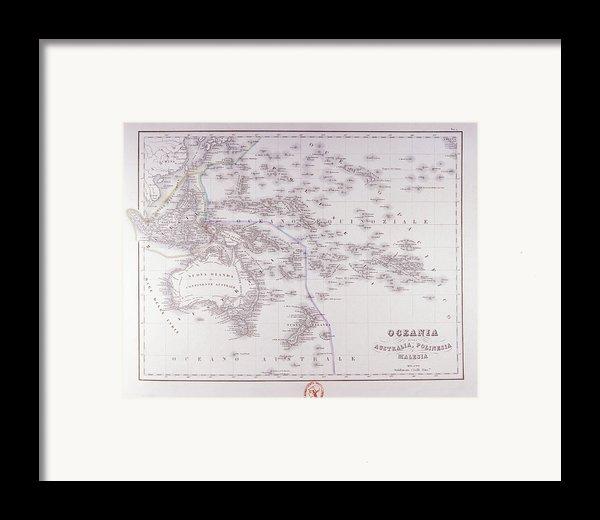 Oceania (australia, Polynesia, And Malaysia) Framed Print By Fototeca Storica Nazionale
