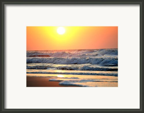 Oceans Morning Framed Print By Emily Stauring