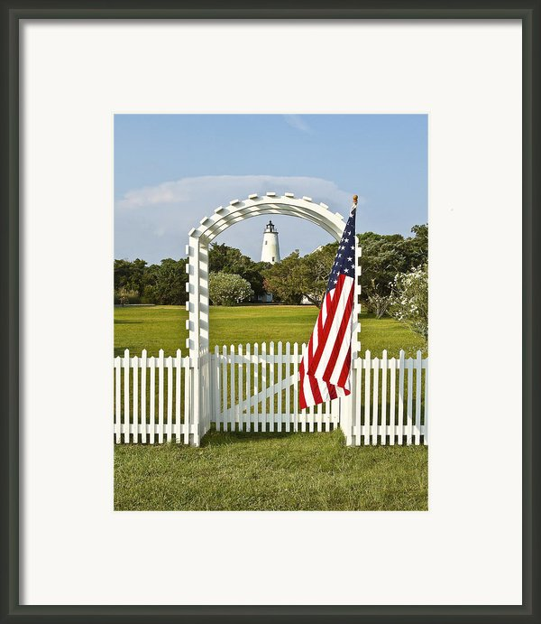 Ocracoke Lighthouse July 4th Framed Print By Bill Swindaman
