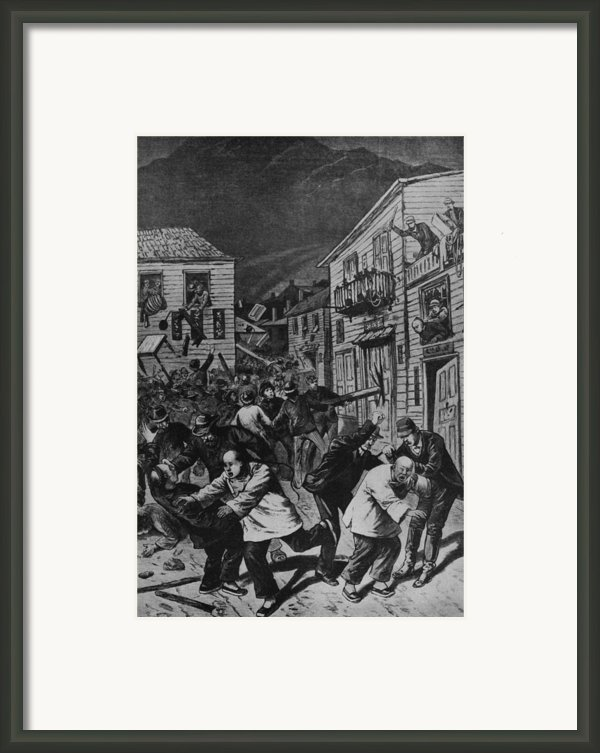 October 31, 1880 Anti-chinese Riot Framed Print By Everett