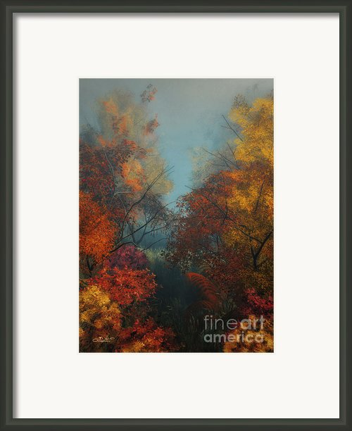 October Framed Print By Jutta Maria Pusl
