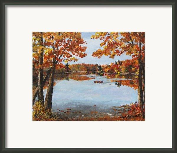 October Morn At Walden Pond Framed Print By Jack Skinner