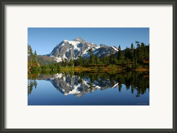 October Reflection Framed Print By Winston Rockwell