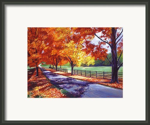 October Road Framed Print By David Lloyd Glover