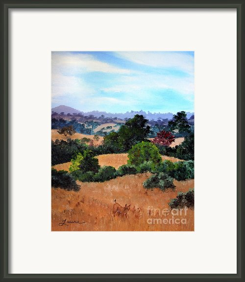 October View Of Arastradero Framed Print By Laura Iverson