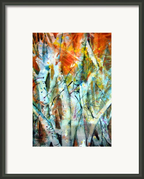 October Woods Framed Print By Mindy Newman
