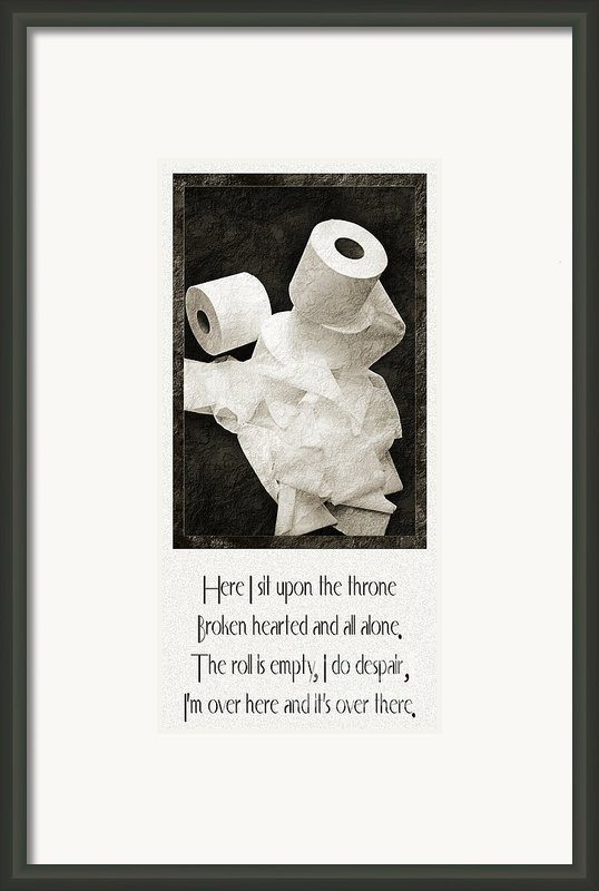 Ode To The Spare Roll Framed Print By Andee Photography