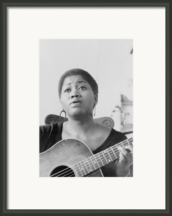 Odetta Holmes 1930-2008, African Framed Print By Everett