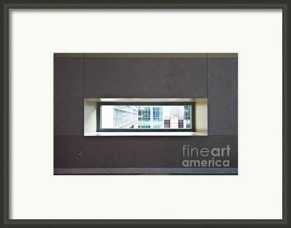 Office Buildings Seen Through Window Framed Print By Dave & Les Jacobs