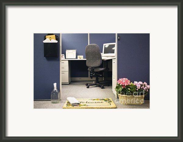Office Cubicle Framed Print By Andersen Ross