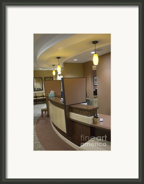 Office Reception Area Framed Print By Andersen Ross