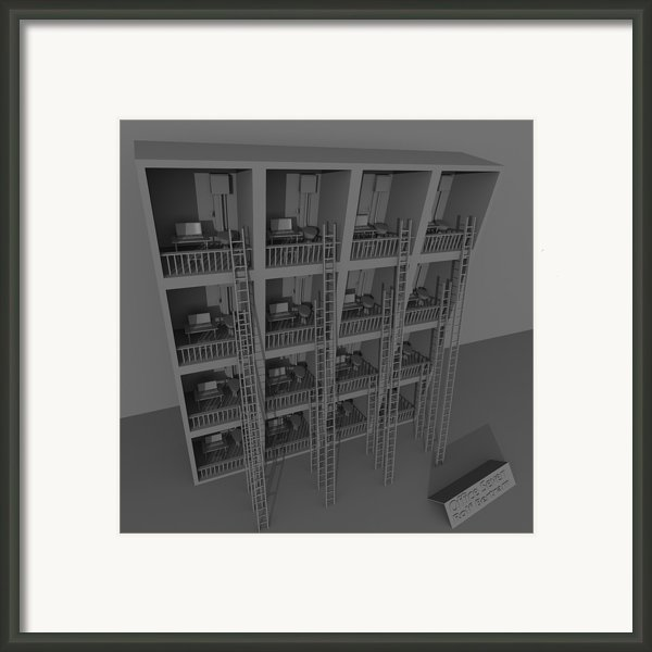 Office Seven Framed Print By Rolf Bertram