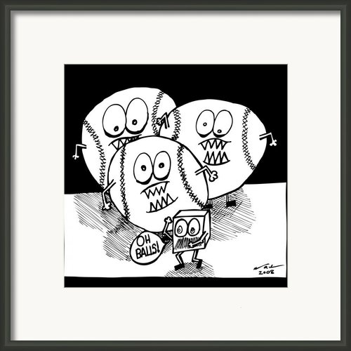 Oh Balls Framed Print By Karl Addison