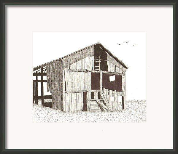 Ohio Barn Framed Print By Pat Price