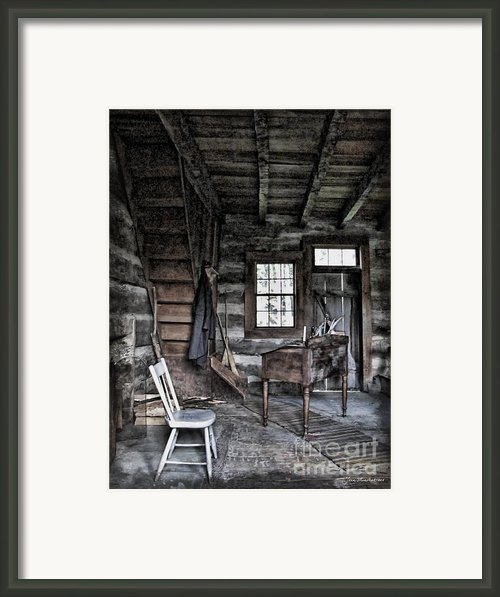 Ohio Cabin Framed Print By Joan  Minchak