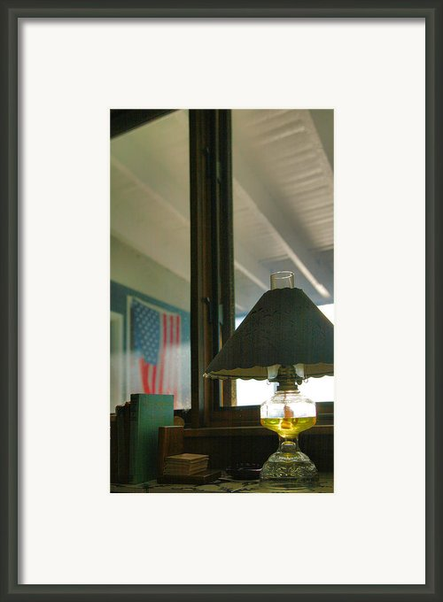 Oil Lamp And Porch Framed Print By Steven Ainsworth