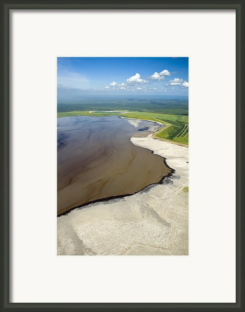 Oil Plant Settling Pond Framed Print By David Nunuk