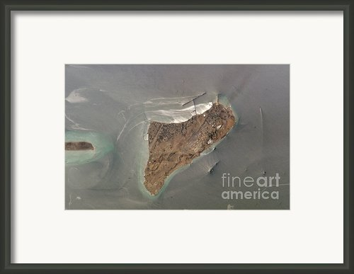 Oil Port, Iran Framed Print By Nasa / Science Source