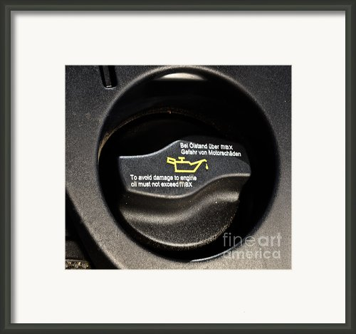 Oil Valve Cap Framed Print By Photo Researchers