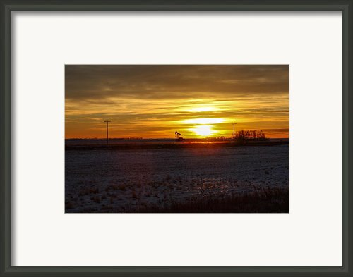 Oil Well Sunset Framed Print By Christy Patino
