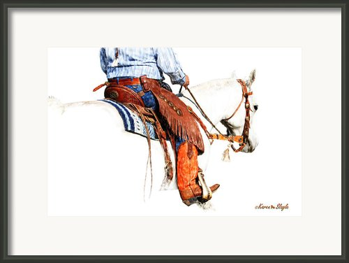 Olathes Framed Print By Karen Slagle