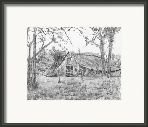 Old Barn 2 Framed Print By Barry Jones