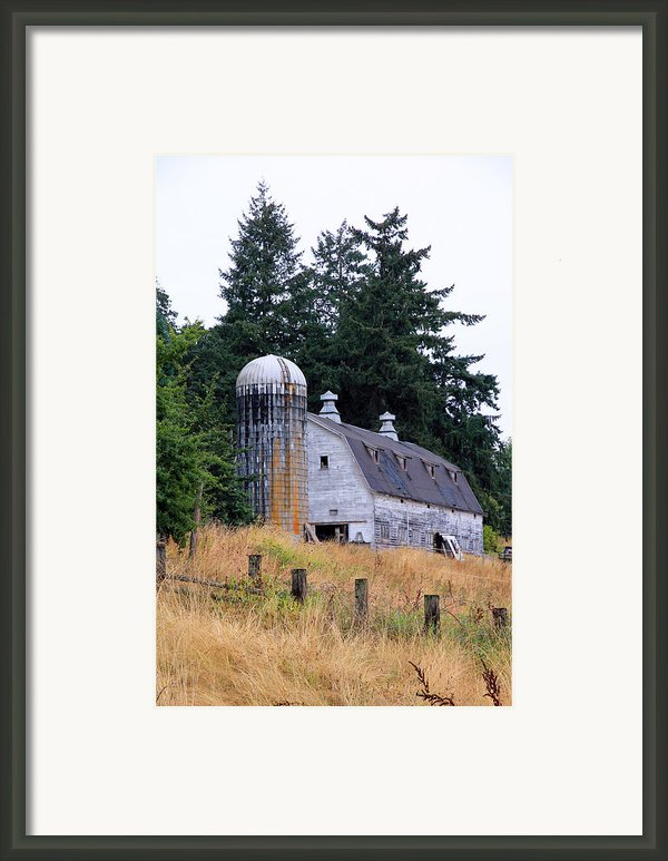 Old Barn In Field Framed Print By Athena Mckinzie