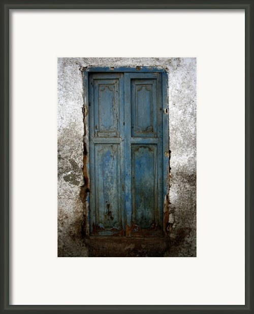 Old Blue Door Framed Print By Shane Rees