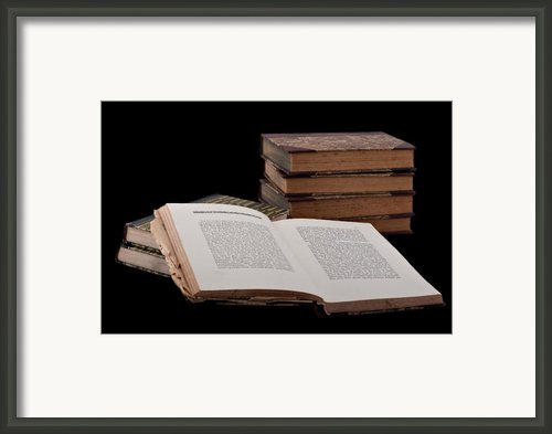 Old Books Framed Print By Gert Lavsen