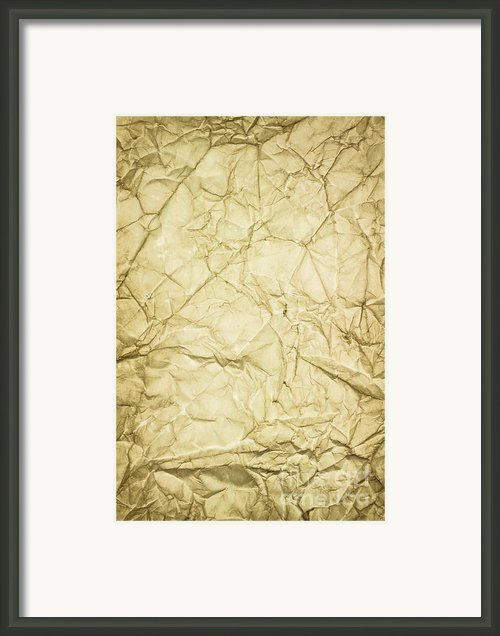 Old Brown Paper Framed Print By Blink Images
