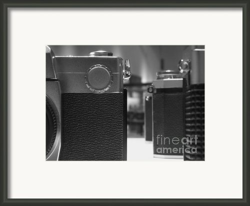 Old Camera Line-up Framed Print By Yali Shi