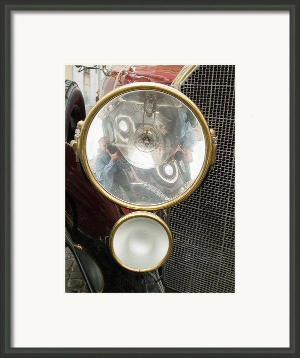 Old Car Lamp Framed Print By Odon Czintos
