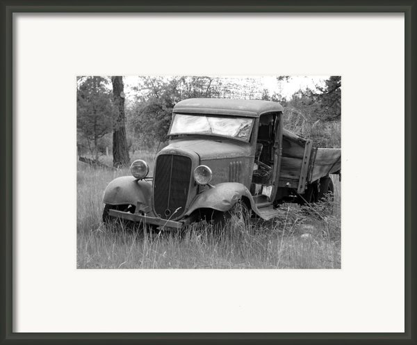 Old Chevy Truck Framed Print By Steve Mckinzie