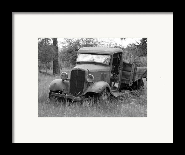 Old Chevy Truck Framed Print By Steve Mckinzie