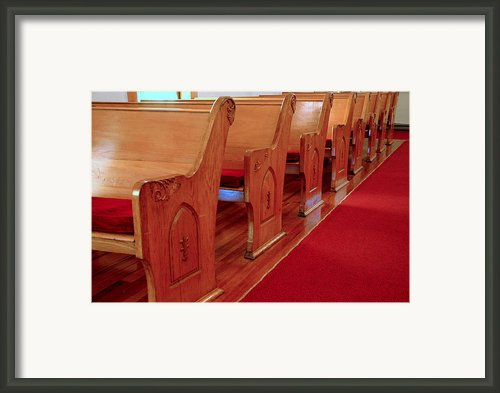 Old Church Pews Framed Print By Leeann Mclanegoetz Mclanegoetzstudiollccom