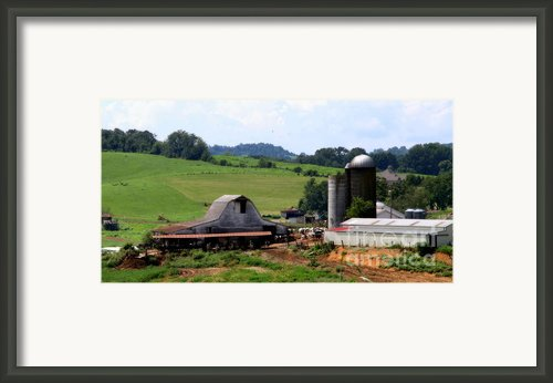 Old Dairy Barn Framed Print By Karen Wiles