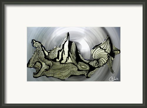 Old Drawing Called Serenity  Framed Print By Colette V Hera  Guggenheim