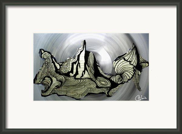 Old Drawing Called Serenity  Framed Print By Colette V Hera  Guggenheim
