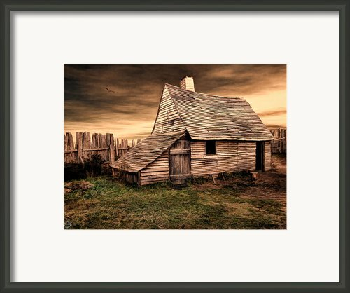 Old English Barn Framed Print By Lourry Legarde