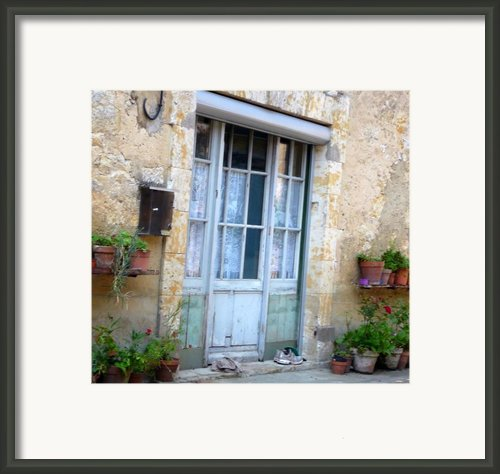 Old French Entree Southwest Framed Print By Dagmar Ceki