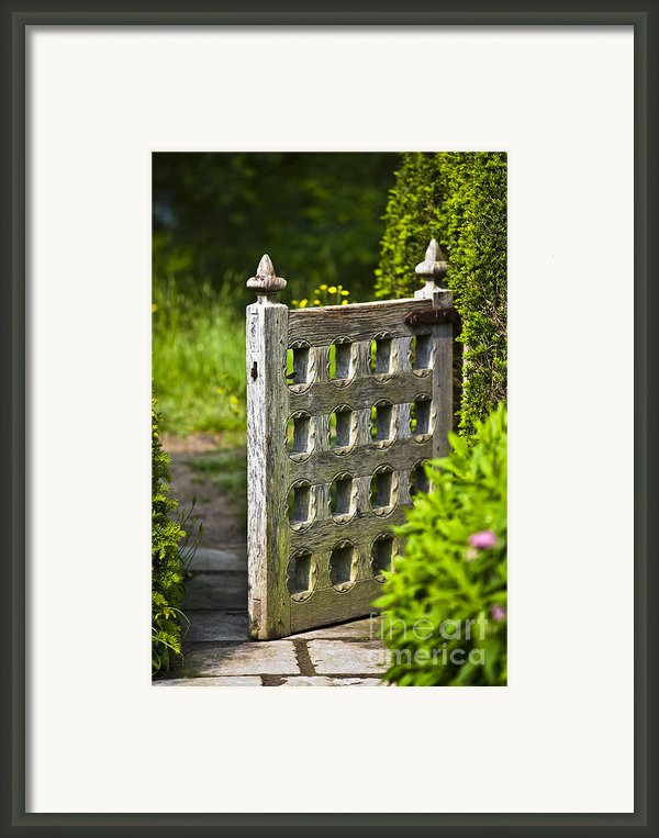 Old Garden Entrance Framed Print By Heiko Koehrer-wagner