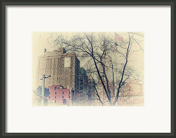 Old Glory In Old Style And Empire Framed Print By Alex Ag