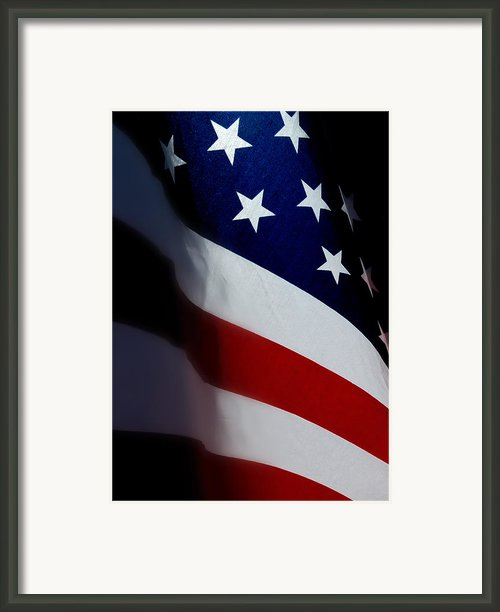 Old Glory - The Flag Of A Proud Country Framed Print By Steven Milner
