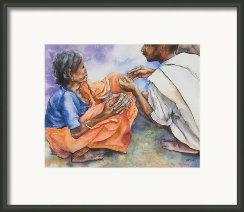 Old Hands Framed Print By Kate Bedell