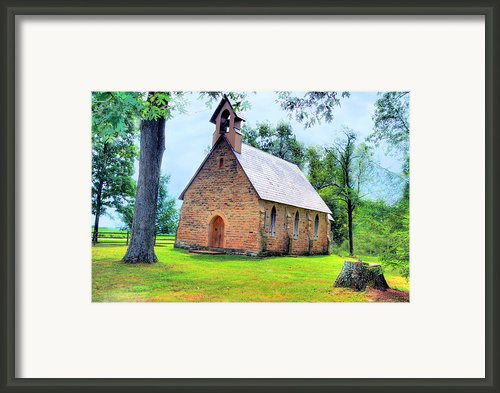 Old Historical Country Chapel  Framed Print By C Wayne Hennebert