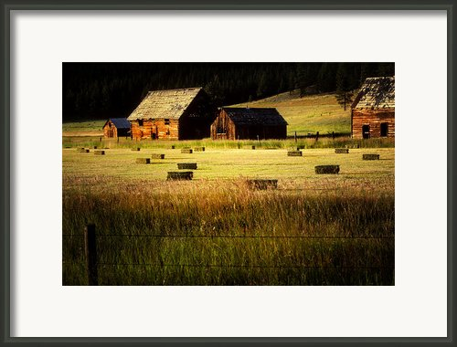 Old Homestead-potomac Montana Framed Print By Thomas Schoeller