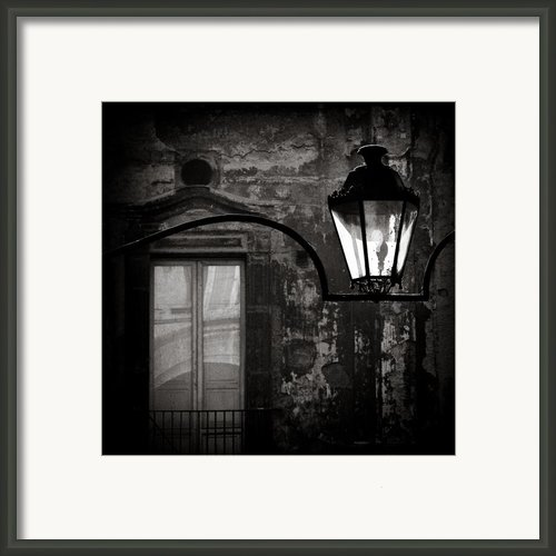 Old Lamp Framed Print By David Bowman